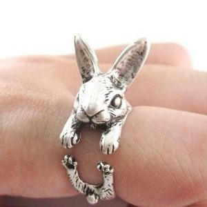 Jewelry - Silver Bunny Rabbit Statement Ring B11